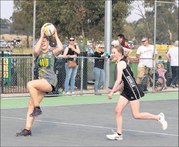 ?? Star performer: ?? Goorambat's Ally Ellis impressed during the sides recent win over North Wangaratta.