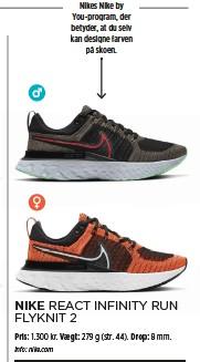??  ?? Skoen er en del af Nikes Nike by You-program, der betyder, at du selv kan designe farven på skoen.