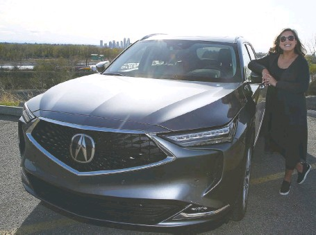 ?? PHOTOS: BRENDAN MILLER ?? Rosa Reyes has a 2009 MDX at home and says the 2022 version will be on her list when she goes car shopping.