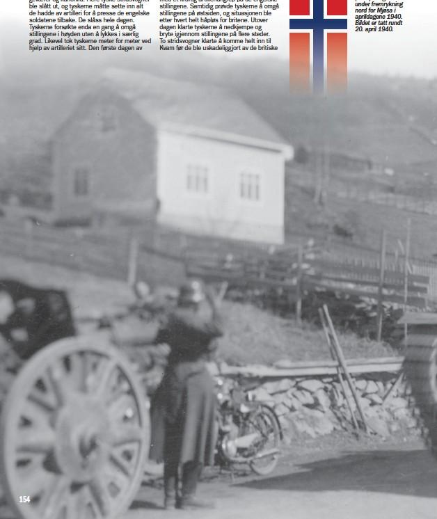 ??  ?? Neubau-Panzerkampfwagen IV (NbFz) fotografert under fremrykning nord for Mjøsa i aprildagene 1940. Bildet er tatt rundt 20. april 1940.