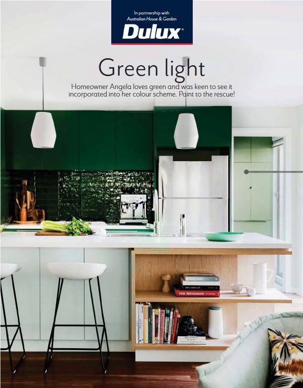 Dulux Professional Polyurethane Satin Tinted Deep Brunswick Green Kitchen Cabinets Beech Fern