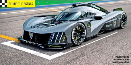 ??  ?? Peugeot's new endurance racer looks like no other