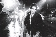 """?? © GODLIS ?? EIGHT EXUBERANT SONGS by punk legend Alex Chilton are on """"Ork Records."""" He is shown outside CBGB in 1977."""