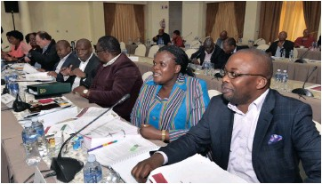 ?? PICTURE: ELMOND JIYANE / GCIS ?? IT'S SELF-DEFEATING: Minister of Justice Michael Masutha, far right, and the cabinet recently unveiled the new Prevention and Combating of Hate Crimes and Hate Speech Bill.