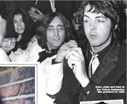 ?? Pic­ture: GETTY ?? Yoko, John and Paul at the Yel­low Sub­ma­rine film pre­miere in 1968