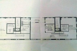 ??  ?? L'attico La piantina del lussuoso appartamento in piazza Silvio Pellico