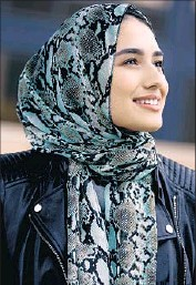 ??  ?? UCLA STUDENT Marya Ayloush is Mexican, Arab and Muslim, and sees the hijab as part of her identity.