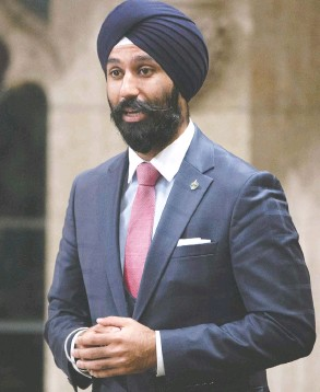 ?? ADRIAN WYLD / THE CANADIAN PRESS FILES ?? The Law Society of Ontario has postponed a disciplina­ry hearing against former Liberal MP Raj Grewal until after his trial for allegedly defrauding over $1 million.
