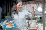 """?? © The New York Times Co. ?? Part historical record, part how-to for cooks, """"Nhum,"""" a cookbook from the chef Rotanak Ros (shown) and Nataly Lee, pieces together recipes from a time before the genocide in Cambodia."""