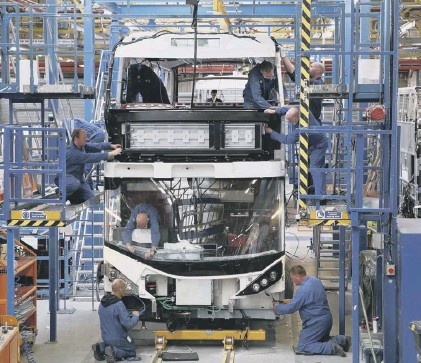 ??  ?? 0 Scottish bus firm Alexander Dennis Limited of Falkirk is building a new generation of electric vehicles