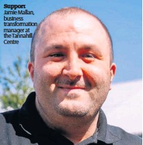 ??  ?? Support Jamie Mallan, business transformation manager at the Tannahill Centre