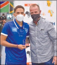 ?? Photos: Contributed ?? Star player… Fagen Hansen was named Top Goalscorer of the Tournament.