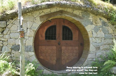??  ?? Fancy relaxing in a Hobbit hole after your round? Yes, they can cater for that too!