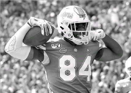 ?? Sam Greenwood/getty Images ?? Tight end Kyle Pitts, who played at Florida, checks all the boxes as a transcendent talent in the NFL. Some scouts even have him as the secondbest player in the draft, and most don't think he'll be there at No. 10 for the Cowboys.
