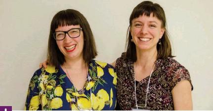 ?? Photo : Amandine Cange ?? Catherine Cormier-larose, poète de Montréal et membre de l'équipe des Voix de la poésie et Rachel Arsenault, coordonnatrice du programme en français.