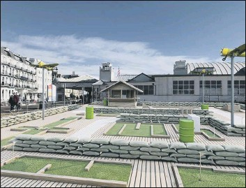 ??  ?? 'GOOD CONTRIBUTION' The proposed crazy golf club at the beach off South Parade Pier