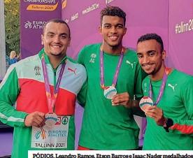 ??  ?? PÓDIOS. Leandro Ramos, Etson Barros e Isaac Nader medalhados
