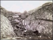 """?? LIBRARY OF CONGRESS/MCT ?? """"Home of a Rebel Sharpshooter, Gettysburg"""" was produced by photographer Alexander Gardner and his team in Devil's Den on the Gettysburg battlefield, a few days after the Civil War battle in early July 1863. The image shows a Confederate soldier behind..."""