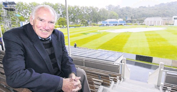 ?? PHOTO: ODT FILES ?? Back in the South . . . New Zealand cricket great John Reid takes in the test between the Black Caps and the West Indies at the University Oval in 2008.