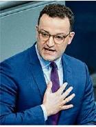 ??  ?? Bundesgesundheitsminister Jens Spahn (CDU).