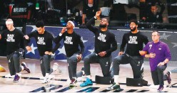 ??  ?? NBA PLAYERS were in the forefront of the Black Lives Matter protests.