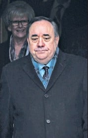 ??  ?? Freedom: the former First Leader Alex Salmond was acquitted