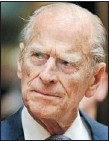 ?? AFP/GETTY IMAGES FILE PHOTO ?? Prince Philip, 90, had heart surgery to ease a blocked artery after experienci­ng chest pains yesterday.