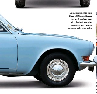 ??  ?? Clean, modern lines from Giovanni Michelotti made for an airy saloon body with plenty of space for passengers and luggage, and superb all-round vision