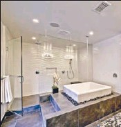 ??  ?? THE MASTER suite includes a double shower.