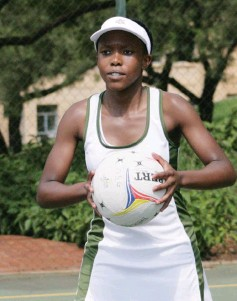 ?? Photo: Samantha Carolus ?? A DSG player planning her attack during the Saints Easter Festival.