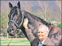 ??  ?? Bill Whittaker with former champion Lohnro