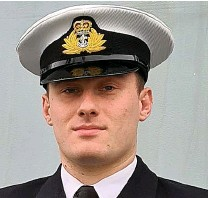 ??  ?? Family tradition...Sub Lieutenant Ben Hoffmeister, 23