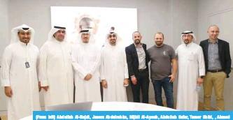 From Left Abdullah Al Najdi Jasem Abdulrahim Mijbil Ayoub Safar Tamer Shibl Ahmed Dardab And Peter Babec