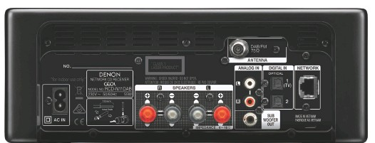 ?? The back panel seems relatively sparsely equipped, but remember that there are other sources available to the N11DAB including CD player, FM and DAB+ tuners, Bluetooth, internet radio and all the services available through the HEOS streaming and multiroom ?? Hidden sources Connections