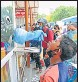 ?? PIC FOR REPRESENTATION ?? A medical worker collects the swab sample of a kid for Covid test in Lucknow.