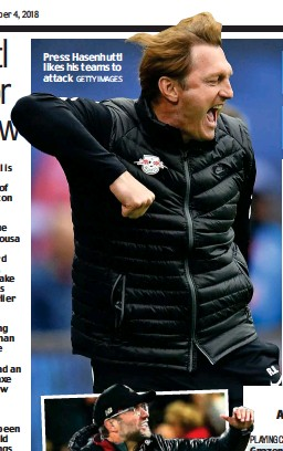 ?? GETTY IMAGES ?? Press: Hasenhuttl likes his teams to attack