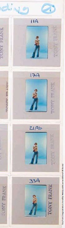 ??  ?? Planche-contact de la prise de vue pour la pochette de Melody Nelson (1971)