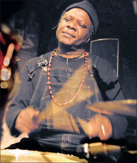 ??  ?? RHYTHM KING: Drummer Brice Wassy consistantly pushes the beat envelope.