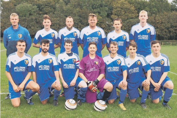 ??  ?? Edgehill Reserves line up before their 3-2 defeat at home to Malton & Norton Reserves in the Junior Cup Pictures: Steve Lilly