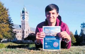 ?? Photo / Supplied ?? Tane Whitehead is hoping to help other Taranaki teens experience university life.