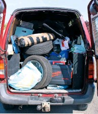 ??  ?? This is why a van is useful – car parts and tools are its normal cargo!