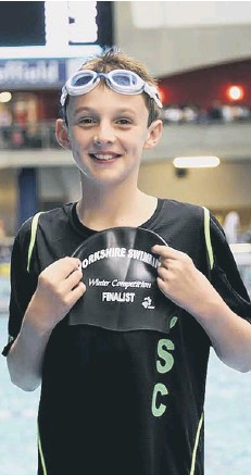 ??  ?? Nine-year-old Joseph Moment shows off the cap he received for making it to the county finals at Sheffield