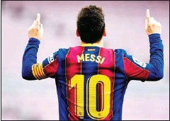?? AFP ?? Barcelona's forward Lionel Messi celebrates after scoring a goal during the Spanish League football match against Celta de Vigo on May 16.