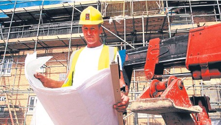 ??  ?? Skilled labour is in high demand on construction sites, says the Federation of Master Builders.