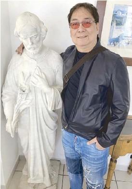 ??  ?? KAMING MGA PEPE! Ang Poet N'yo with Saint Joseph at the Hotel Santa Caterina, Amalfi Coast, Italy.
