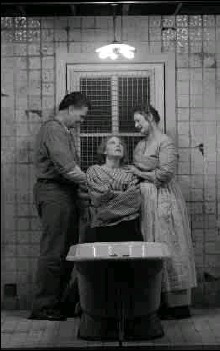 """?? BY T. CHARLES ERICKSON — KENNEDY CENTER ?? Ray Wiederhold, Kathryn Meisle and Fiana Toibin in """"Mrs. Packard,"""" about a woman committed to an insane asylum by her husband."""