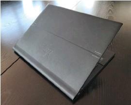 ??  ?? Vegan leather (polyurethane) wraps the outside surfaces of the HP Elite Folio.