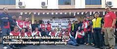 ??  ?? PESERTA Kembara Merdeka Media 2017 bergambar kenangan sebelum pulang.