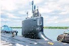 ?? JOE CAVARETTA/STAFF PHOTOGRAPHER ?? The USS New Hampshire, based in Groton, Conn., will arrive Monday at Port Everglades.