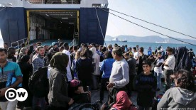 ??  ?? Greece's migrant camps are overflowing